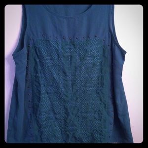 M Top American Eagle Green Embroidered.